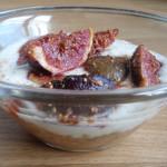 Deser z pieczoną figą