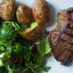 Męski obiad: stek