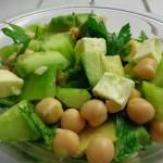 Zieloną, wegetariańska sałatka