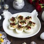 Jajka faszerowane z kiełbaską chorizo
