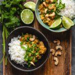Curry z pieczonym kalafiorem i soczewicą